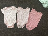 Baby girl vests. 0-3 months. 3 pack.
