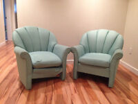 Two Mint-Green Armchairs