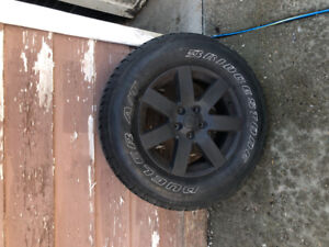 Jeep tires and rims for sale Bridgestone duelers p255/70R18
