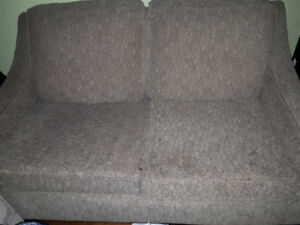 Free couch and matching love seat.