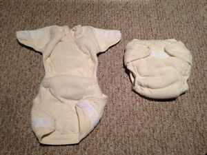 2 Engel ORGANIC fitted cloth diapers
