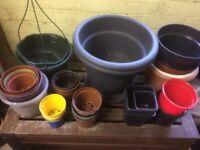 Free plastic plant pots - all sizes