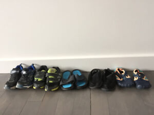 Size 11 - water shoes sandals runners - toddler - youth boy $25