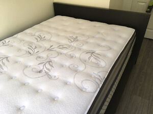 Double bed with mattress, like new