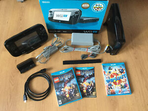 WiiU de Luxe parfait etat, complete + The Hobbit-Wipe Out- 265$
