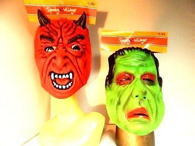 Monsters Frankenstein Devil Satan Rubber Face Halloween Costume Masquerade Masks](Rubber Face Masks Halloween Costume)