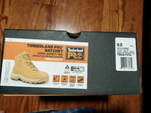 MEN'S TIMBERLAND PRO® RATCHET STEEL TOE WORK Boots Size 9.5""