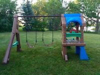 Swingset & slide.  Step 2