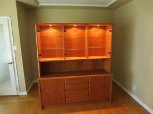 Antique Lighted Cabinet and Display