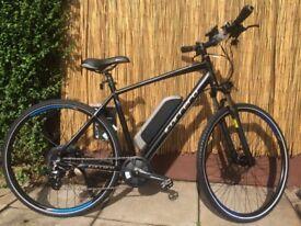 "New Carrera Crossfire-E Mens Electric Hybrid Bike - 21"" Frame"