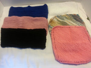 Hand knitted dish clothes & floor swifers