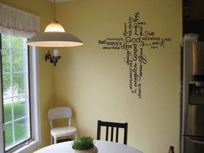 Peevish COLLAGE VINYL WALL DECAL STICKER QUOTE DECOR LETTERING FAITH LIVING ROOM