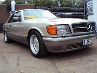 Mercedes S Class Coupe–C126–500 SEC–5L V8 Petrol 245 BHP–Appreciating Classic