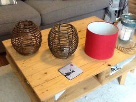 Lamp shades £2 each