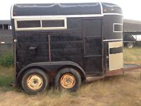 Straight load bumper pull horse trailer with tack!! OBO