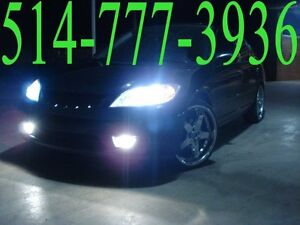 KIT HID XENON CONVERSION SLIM CAR HEADLIGHTS PHARES INSTALLATION