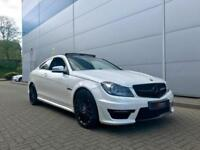 2014 14 reg Mercedes-Benz C63 6.3 AMG V8 Coupe + WHITE + Huge Spec