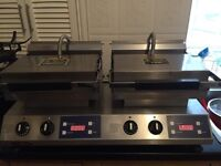 Rowlett Rutland twin grill. Re200-dt grill, cooking, cafe kitchen.