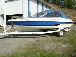 1996  17 ft. Campion Bow Rider with 1996 Yacht Club Trailer