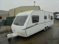 2008 ABBEY VOGUE 650 6 BERTH TWIN AXLE TOURING CARAVAN TOURER WITH AWNING