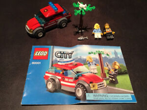 LEGO City 60001  Fire Chief Car 100% Complete