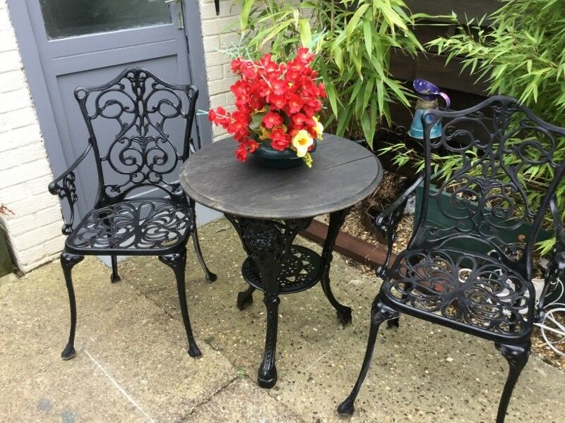 garden table and chairs cast iron garden furniture kings lynn - Garden Furniture King
