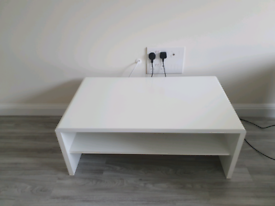 White gloss coffee table and side tables