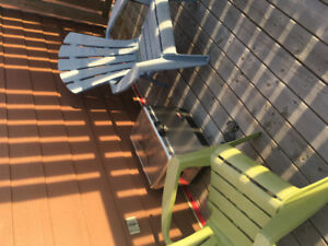 Deck chairs...adirondack plastic