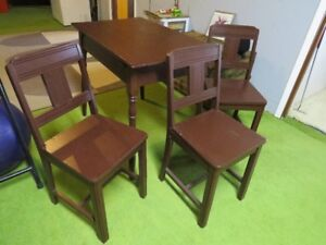 1940s table and 3 chairs