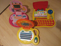 3 french v-tech toy computers
