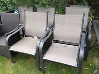 Patio Set - Glass table and six chairs