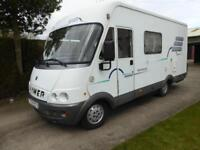 Hymer 584 3 berth A class end kitchen motorhome for sale Ref 13089