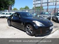 NISSAN 350 Z V6 F.S.H Low Miles Stunning Car AirCon, Bluetooth, Black, Manual, P
