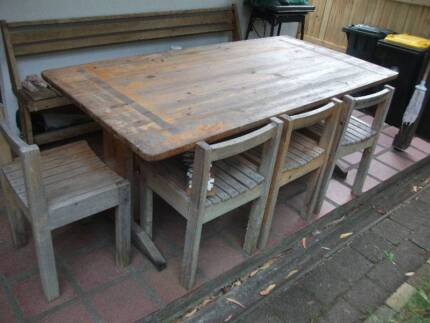 $100 bargain-  Great** PINE TABLE AND 4 CHAIRS** Mosman Mosman Area Preview