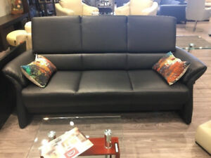 BARCELONA - 3 SEATER SOFA - LEATHER - MADE IN EUROPE