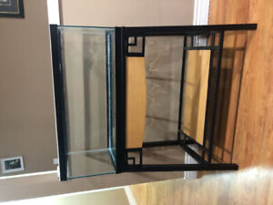 20 gallon long fish tank with stand (no lid)