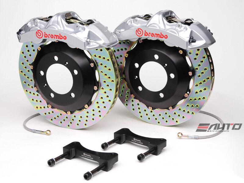 Brembo Front Gt Brake 6pot Caliper Silver 355x32 Drill Disc Benz C219 W211 R230