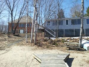 MUST SELL!!  House, Cottage, Garage on Large Waterfront Lot