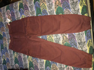 For ages 7-8 years old, burgundy pants, brand new