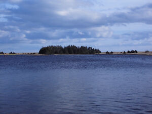 Waterfront lot with Ocean view in Grand River - Cape Breton