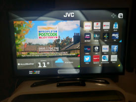 """43"""" SMART JVC FREEVIEW TV WITH WIFI APPS AND REMOTE WE DELIVER"""