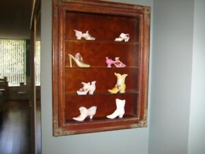 Small Curio Cabinet for Wall