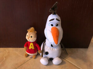 OLAF AND ALVIN FROM THE CHIPMUNKS, TOY STUFFIES PLUSH
