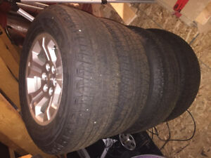 Chev truck rims and Goodyear tires - new condition