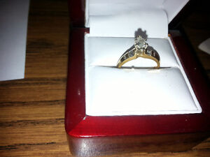 14k yellow gold ladies engagement & anniversary ring channel-set