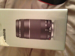 Canon is eos rebel T3 with extra 75-300 mm lens....