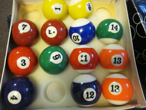 Billiard Balls - Traditional Sets ( Missing 8-Balls) - in Box Kitchener / Waterloo Kitchener Area image 9