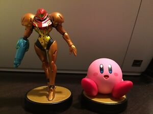 Selling Opened Kirby and Samus SSB Amiibos