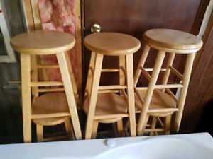 Oak bar stools set of 6