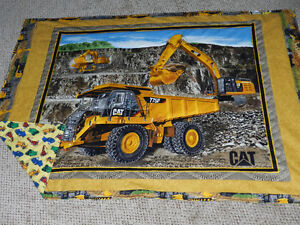 """for sale a New """"Big Cat Truck Quilt with flannelette backing"""""""
